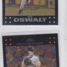 Roy Oswalt Trading Card Lot of (2) 2007 Topps Chrome #153 Astros