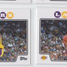 Magic Johnson Trading Card Lot of (2) 2008-09 Topps #174 Lakers