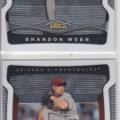 Brandon Webb Trading Card Lot of (2) 2009 Topps Finest #80 Diamondbacks
