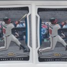 Yunel Escobar Trading Card Lot of (2) 2009 Topps Finest #93 Braves
