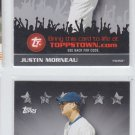 Justin Morneau Trading Card Lot of (2) 2009 Topps Town #TTT12 Twins