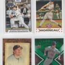 Justin Morneau Trading Card Lot of (4) 2008 Topps Update, 07 Opening Day Twins