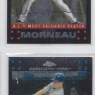 Justin Morneau Trading Card Lot of (2) 2007 Topps Chrome #175 & #256 Twins