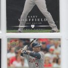 Gary Sheffield Trading Card Lot of (2) 2008 Upper Deck First Edition #223 Tigers