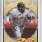 Gary Sheffield Trading Card Single 2008 UD Heroes #63 Tigers
