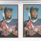 Kirby Puckett Oversize Trading Card Lot of (2) 1989 Bowman #162 Twins