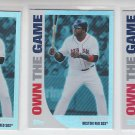 David Ortiz Own The Game Lot of (3) 2008 Topps #OTG7 Red Sox