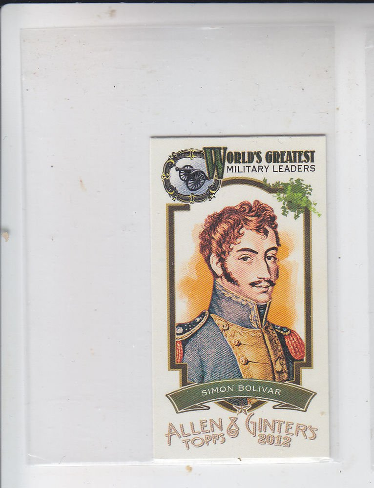 Simon Bolivar Worlds Greatest Military Leaders Mini 2012 Topps Allen Ginter #ML2