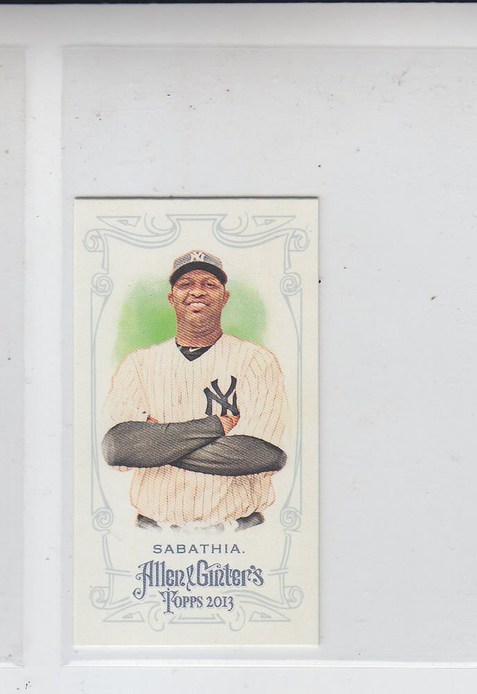 CC Sabathia Mini A&G Parallel SP 2014 Topps Allen & Ginter #70 Yankees