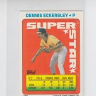Dennis Eckersley Super Star Sticker Backs 1990 Topps #64 Athletics #117 306