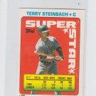 Terry Steinbach Super Star Sticker Backs 1990 Topps #56 Athletics 128 176