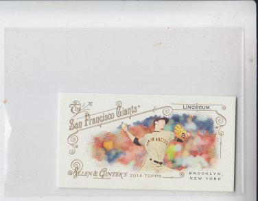 Tim Lincecum Mini Parallel 2014 Topps Allen & Ginter #32 Giants