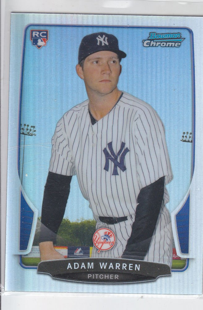 Adam Warren RC Refractor 2013 Bowman Chrome #81 Yankees