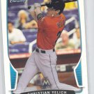 Christian Yelich RC Refractor 2013 Bomwan Chrome #40 Marlins