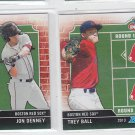 Trey Ball Jon Denney Draft Day Lot of (2) 2013 Bowman #DDBB Red Sox