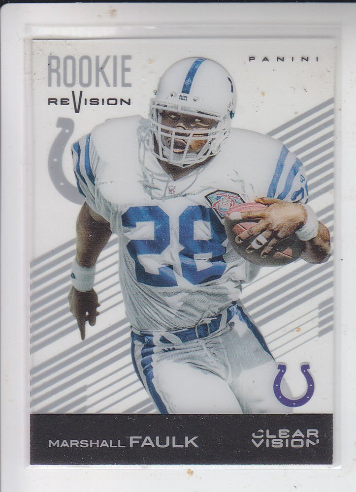 Marshall Faulk Acetate Rookie Revision 2015 Panini Clear Vision #89  Colts