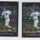 Magglio Ordonez Trading Card Lot of (2) 2007 Topps Chrome #119 Tigers