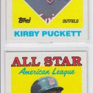 Kirby Puckett Trading Card Lot of (2) 1988 Topps #391 Twins AS