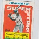 Joe Carter Super Star Sticker Backs 1990 Topps #48 Indians  122 250