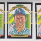 George Brett Diamond Kings Trading Card Lot of (3) 1986 Donruss #15 Royals *BILL