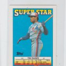 Tim Raines Siuper Star Mini Single 1988 Topps #20 Back #203 Expos