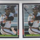 Reggie Jackson Trading Card Lot of (2) 1985 Donruss #57 Angels NMMT *BILL
