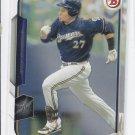 Carlos Gomez Trading Card Single 2015 Bowman #57 Brewers
