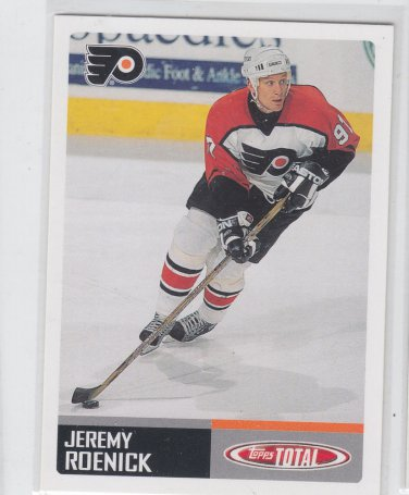Jeremy Roenick Trading Card Single 2002-03 Topps Total #239 Flyers