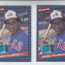 Andres Galarraga RC Tradign Card Lot of (2) 1986 Donruss #33 Expos NMMT *BILL