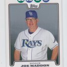 Joe Maddon Trading Card Single 2008 Topps #473 Rays MGR