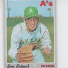 Jim Roland Baseball Trading Card 1970 Topps #719 Athletics VG *BILL