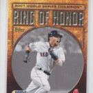Dustin Pedroia Ring of Honor Insert 2010 Topps #RH56 Red Sox