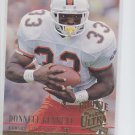 Donnell Bennett RC Trading Card Single 1994 Fleer Ultra #138 Chiefs