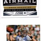 Drew Brees Airmail Trading Card Lot of (2) 2013 Score #240 Saints
