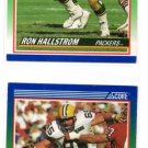 Ron Hallstrom RC Trading Card Lot of (2) 1990 Score #337 Packers