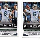 Mark Sanchez Airmail Trading Card Lot of (2) 2013 Score #242 Jets