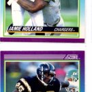 Jamie Holland Trading Card Lot of (2) 1990 Score #211 Chargers