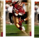 Charlie Garner Trading Card Lot of (3) 2000 UD Gold Reserve #147 49ers