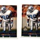 Brett Perriman Trading Card Lot of (2) 1996 Topps  #11 Lions