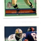 Mark Lewis Trading Card Lot of (2) 1996 Topps #336 Saints