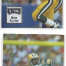 Mark Clayton Trading Card Lot of (2) 1993 Playoff Contenders #56 Packers