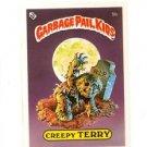 Creepy Terry Checklist Variation SP 1985 Topps Garbage Pail Kids UK #5b NMT