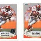 Keith Jones Trading Card Lot of (2) 1990 Fleer #379 Falcons
