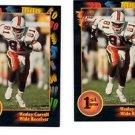 Wesley Carroll Trading Card Lot of (3) 1991 Wild Card Draft #60