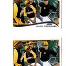 Wandy Rodriguez Trading Card Lot of 2 2014 Topps Mini Exclusives #522 Pirates