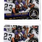 Jacoby Jones Super Bowl XLVII Trading Card Lot of (2) 2013 Score #256 Ravens