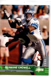 Germaine Crowell Tradng Card Single 2000 Topps Stadium Club #8 Lions
