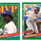 Eddie Murray Trading Card Lot (2) 1991 Donruss #BC18 & MVP #405 Dodgers