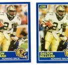 Dalton Hillard Trading Card Lot of (2) 1989 Score #31 Saints