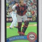 Brian McCann Black Refractor SP 2011 Topps Chrome #72 Braves Yankees 008/100